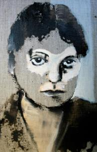 Edith Stein (serie bijzondere vrouwen, 20x30,  2018, olieverf op linnen