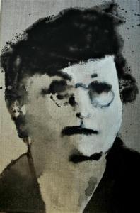 Eelkje Timmenga (serie bijzondere vrouwen) 20x30 ,2018, olieverf op linnen