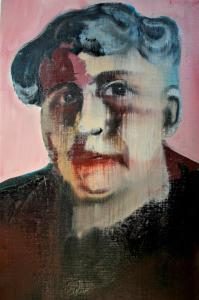 Henriette Pimentel (serie bijzondere vrouwen) 20x30, 2018, olieverf op linnen