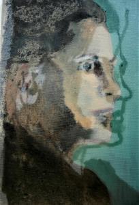 Trui van Lier (serie bijzondere vrouwen) 20x30, 2018, olieverf op linnen