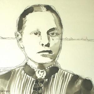 2012 Vrouw in inkt
