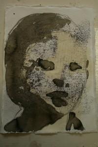 portretje in inkt op papier